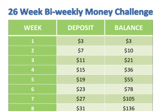 The 26 Bi-Weekly Money Challenge: The Easy Way to Save $1378